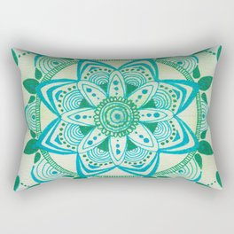 Simpe Blue/Green Mandala Rectangular Pillow