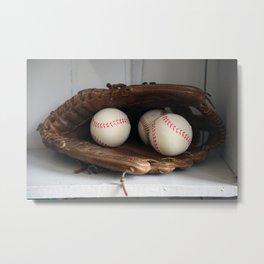 Baseball Glove Metal Print