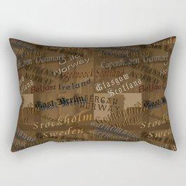 See the World Travel Plans Rectangular Pillow