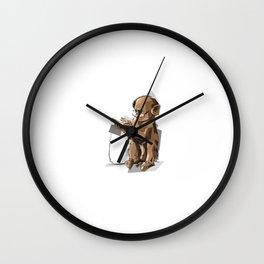 Baby Monkey Text'n Wall Clock