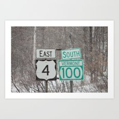 Vermont Street Signs Art Print