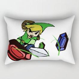 Cutting Grass is NOT a waste of time: Legend of Zelda Wind Waker Rectangular Pillow