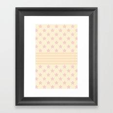 Pat stars Framed Art Print