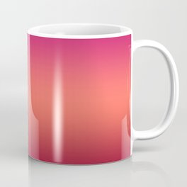 Living Coral Pink Peacock Jester Red Gradient Ombre Pattern Coffee Mug