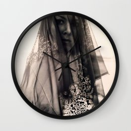 Drops in the Wind Wall Clock