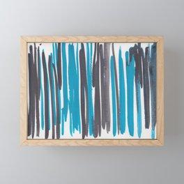 20   |  190408 Blue Abstract Watercolour Framed Mini Art Print