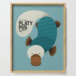 Hello Platypus Serving Tray