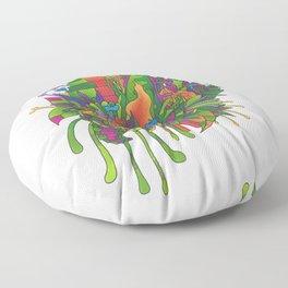 Mini Frilly Monster Garden Floor Pillow