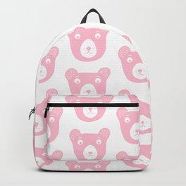 Cute pink bear illustration Backpack