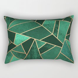 Emerald and Copper Rechteckiges Kissen