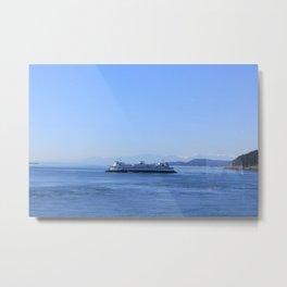 Ferry in the Salish Sea Metal Print