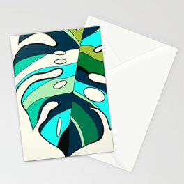 Blue cool monstera plant Stationery Cards