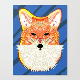 Fox in Blue Canvas Print