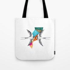 Swallows, geometric drawing Tote Bag