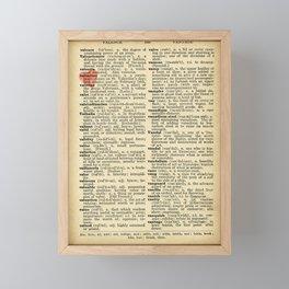 Valentine's Day (female version) Framed Mini Art Print