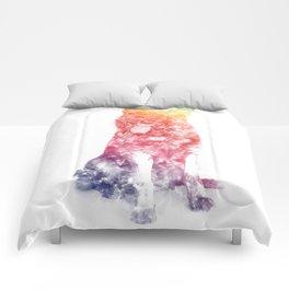 German Shepherd Watercolor Comforters