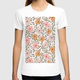70s Floral Theme T-shirt