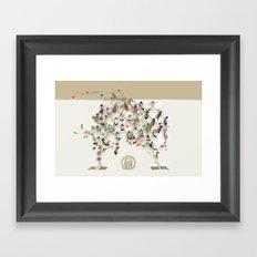 Spring shoe tree Framed Art Print