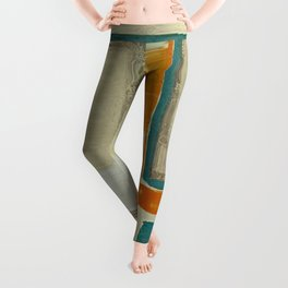 Mid Century Modern Blurred Abstract Leggings