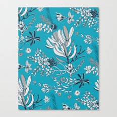 Cool Blue Cradle Flora Canvas Print