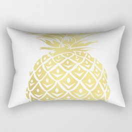 Gold foil look pineapple Rectangular Pillow