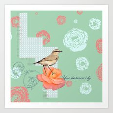 Upon this Summers Day - Seafoam Green Art Print