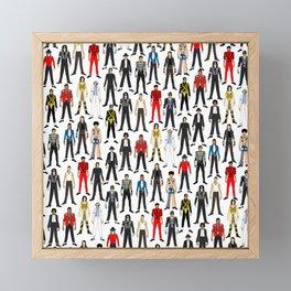Beat IT Pattern Framed Mini Art Print