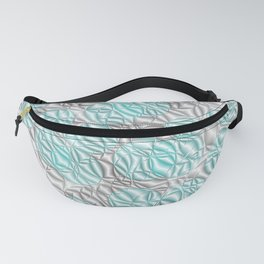 blue,pattern from many circles shiny with metallic effect Fanny Pack