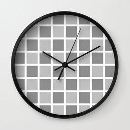 Modern Checkers (gray tiles) Wall Clock