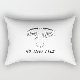 NO SLEEP CLUB. Rectangular Pillow