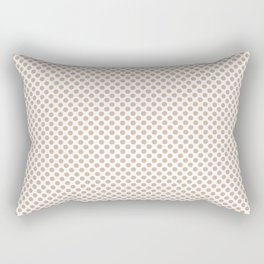 Toasted Almond Polka Dots Rectangular Pillow