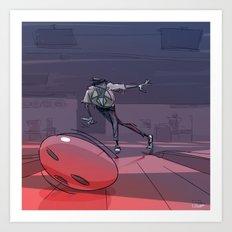 Bowling Night Art Print