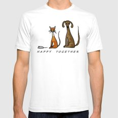 Happy Together - Domestic SMALL White Mens Fitted Tee