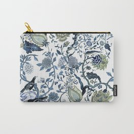 Blue vintage chinoiserie flora Carry-All Pouch