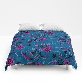 Queen of the Night - Teal / Purple Comforters