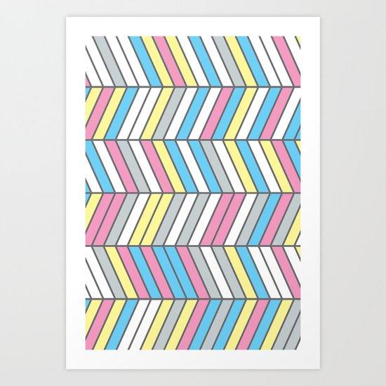 Four Colour Process Art Print