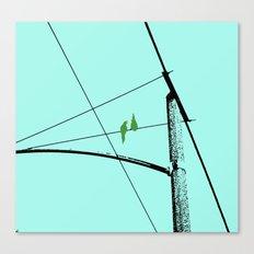 Love Birds Geometry Canvas Print
