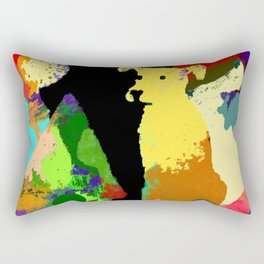 Dog with Abstract Background Rectangular Pillow