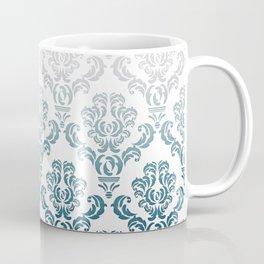 DAMASK GREY TO TEAL Coffee Mug