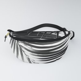 Palm Leaves Black & White Vibes #1 #tropical #decor #art #society6 Fanny Pack
