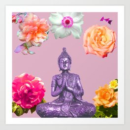 Lavender Buddha Art Print