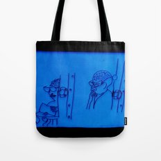 reading lady x 2 (edit 1) Tote Bag