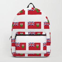 Flag of ontario -ontarian,ontarien,toronto,ottawa,heartland,huron,hamilton. Backpack