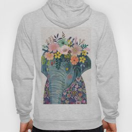 Elephant with flowers on head Hoody