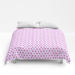 Pink Delicate Flowers Comforters