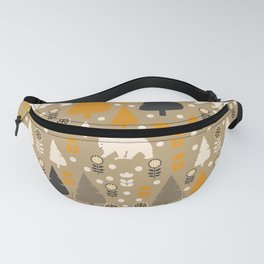 Bears in a winter forest Fanny Pack