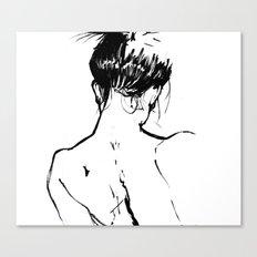 Neckline Canvas Print