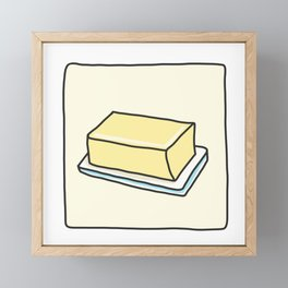 Butter Framed Mini Art Print