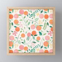 Vanilla Peaches Framed Mini Art Print