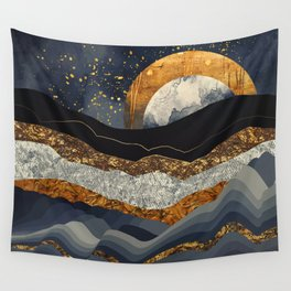Metallic Mountains Wall Tapestry